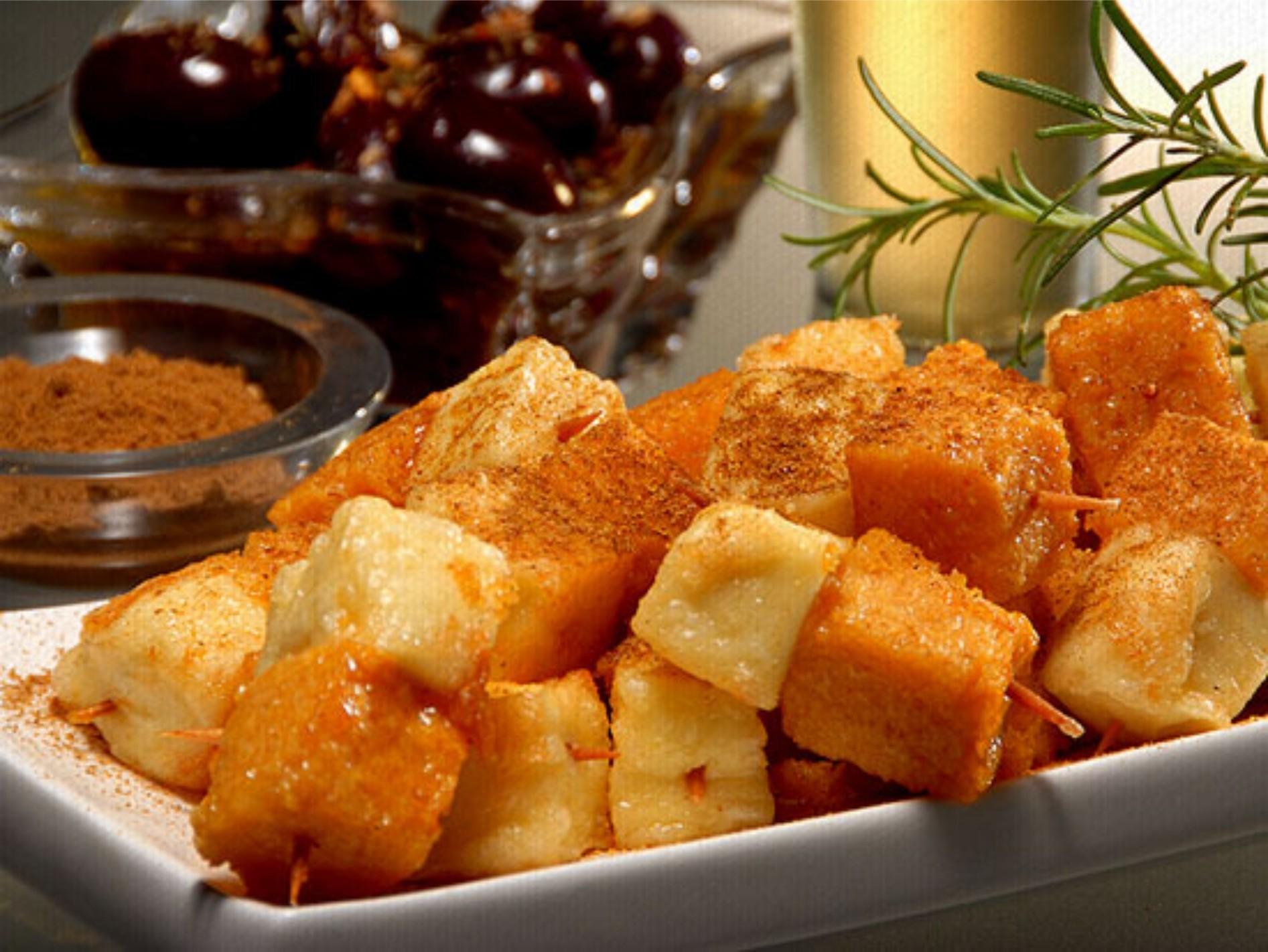 Polenta Frita com Queijo De Coalho